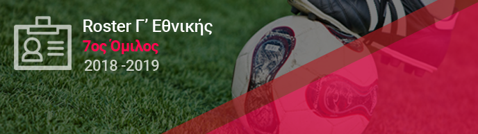 Roster Γ' Εθνικής - 7ος Όμιλος | mikriliga.com